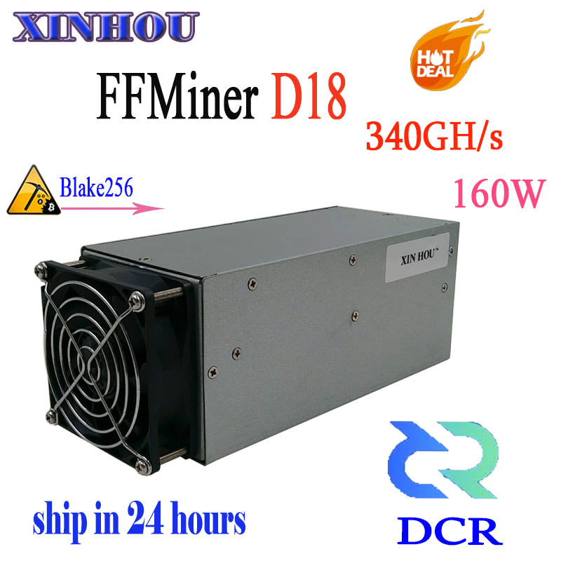 DCR miner FFMiner D18 340GH/S Asic Blake256 160W mini and low noise miner Better than antminer S9 Z9 L3+ DR3 T9+ ( Without PSU ) - Mining Bonanza
