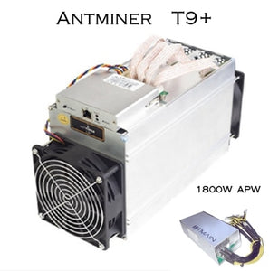 Crypto Asic miner Antminer T9+  10.5T Bitcoin BCH BTC mining rig BITMAIN 1800W Power Supply with PSU cheaper than Antminer S9i - Mining Bonanza
