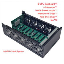 Load image into Gallery viewer, mining case pc frame USB miner rig server rack PCIE 16x mainboard BTC XMR for P106 RX470 480 RX 570 580 gtx 1060 9 Graphics card - Mining Bonanza