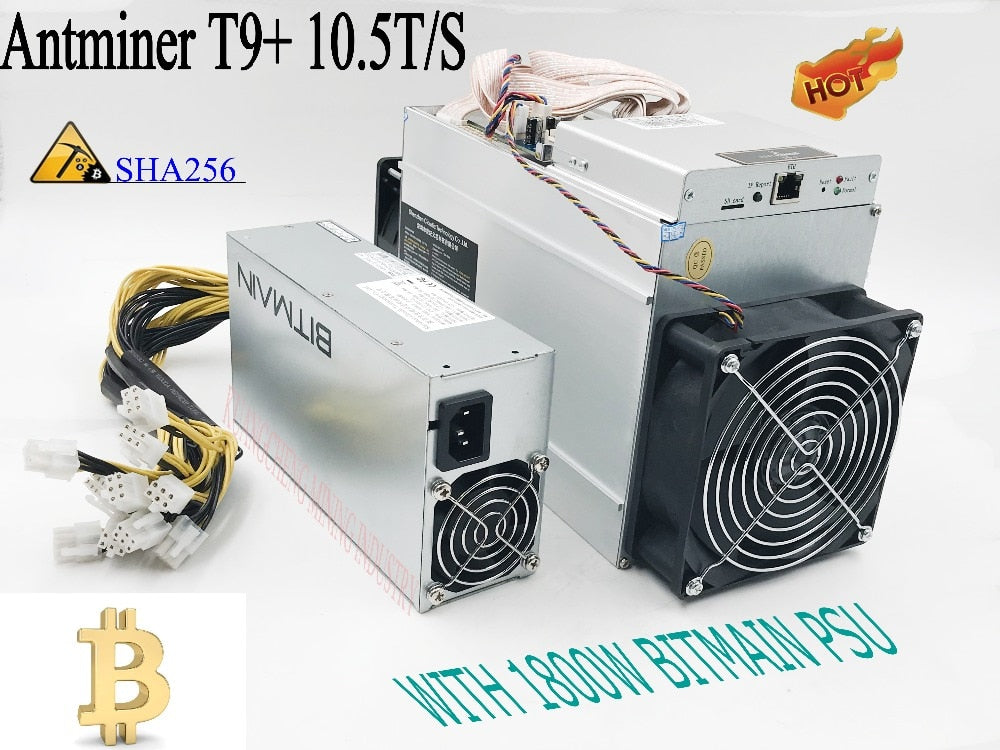 KUANGCHENG sell old AntMiner T9+ 10.5T Asic Miner Bitcon Miner,16nm BTC Mining with power supply Sha256 algorithm .Fast, steady. - Mining Bonanza