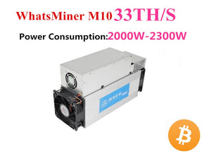BTC BCH Miner Asic Bitcoin Miner WhatsMiner M10 33TH/S With Power Supply Better Than M3 Antminer S9 S9i S9j INNOSILICON T2T - Mining Bonanza