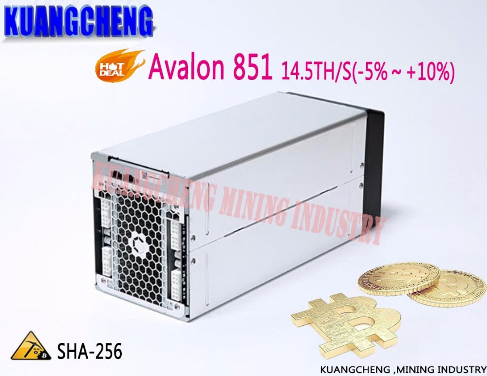 Avalon 851 14.5T SHA256 ASIC BTC Bitcoin mining machine Miner A851 14.5TH/s Better than A841, Ebit E9,Antminer S9i - Mining Bonanza