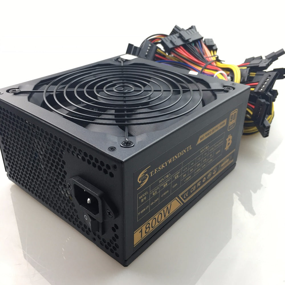 T.F.SKYWINDINTL 1800W 20+4 PIN Power Supply Mining Rig mining power supply Ethereum coin Atx Asic Bitcoin miner RX480 RX470 570 - Mining Bonanza