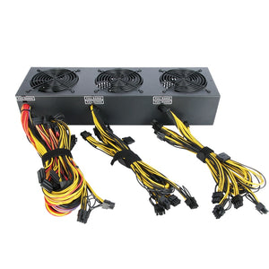 Free ship new 2018 2600w  Bitcoin Miners psu PC Power Supply support 12 card for Miner High quality Power supply For BTC ETC ZEC