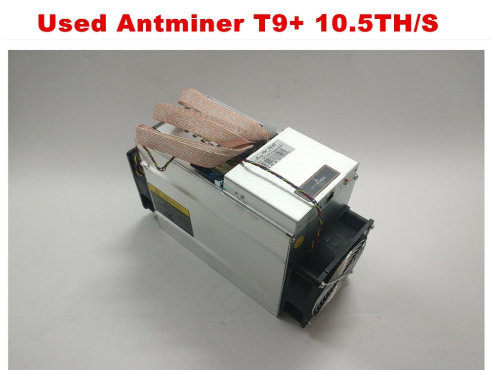 Used BTC Miner AntMiner T9+ 10.5T Bitcoin BCH Miner Better Than Antminer S9 S9i S9j 13.5T 14T 14.5T WhatsMiner M3,Economic Miner