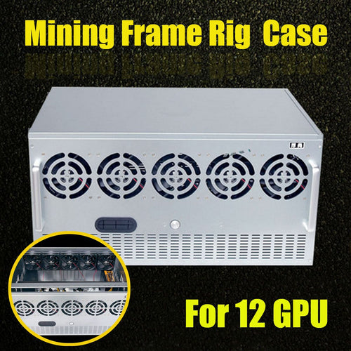 DIY Open Air Mining Crypto Currency Miner Frame Rig Case For 12 GPU ETH Ethereum  Computer Cases New Arrival - Mining Bonanza