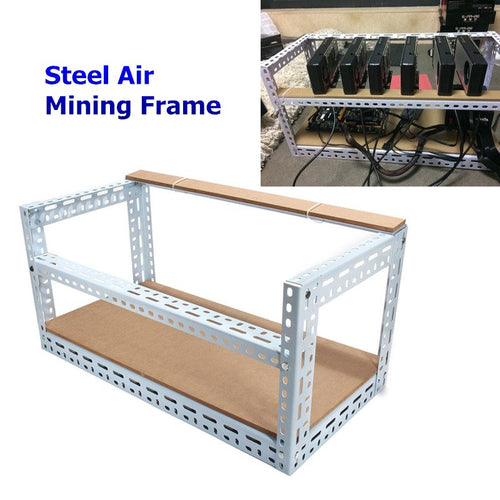 New Arrival 2018 Steel Coin Open Air Miner Mining Frame Steel Crypto Coin Open Rig Case up to 6 GPU ETH BTC Ethereum Machine - Mining Bonanza