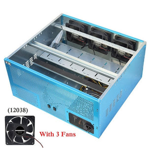 Mining Frame Case New 5.5U Miner Mining Rig Frame Miner frame Case For 6-8 GPU Mine Chassis Mine Rack Dual Power Supply - Mining Bonanza