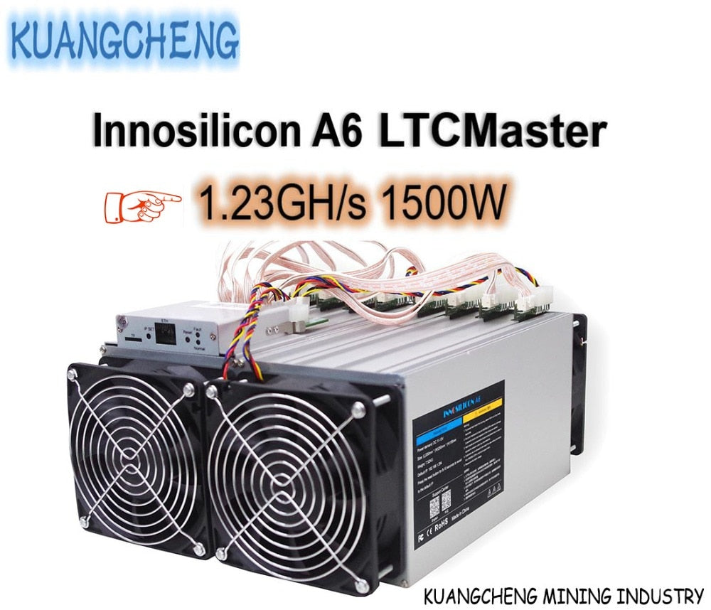 KUANGCHENG Mining industry sell LTC MINER Innosilicon A6 LTCMaster 1.23GH/s 1500W better than antminer L3 + Innosilicon A4+ - Mining Bonanza