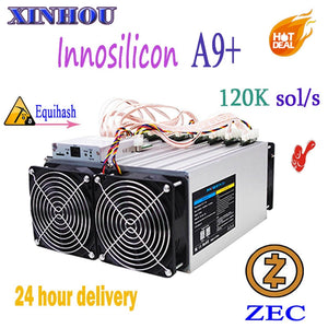 Used ZEC Miner Innosilicon A9+ ZMaster 120k sol/s Equihash Asic miner Zcash BTG Mining Better Than antminer Z9 S9 T15 M3 Z11 G28 - Mining Bonanza