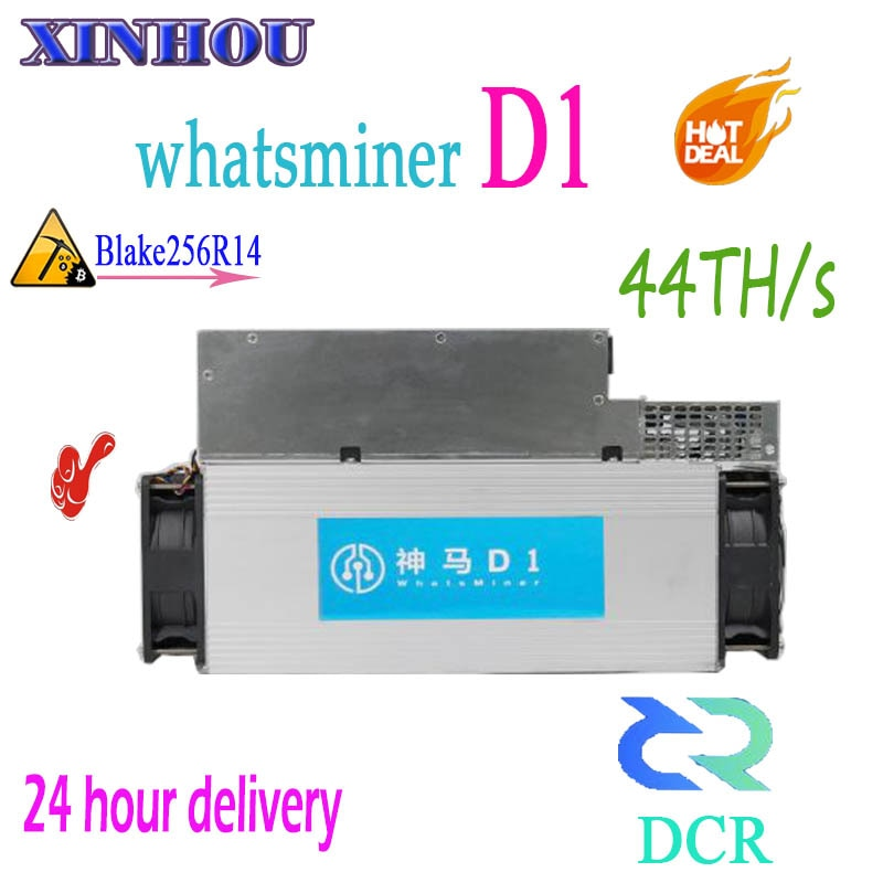 ASIC Miner WhatsMiner D1 44TH/S With PSU DCR mining Better Than antminer DR3 DR5 S9 S11 T15 B7 Z11 Innosilicon D9 STU-U1 M3 G28 - Mining Bonanza