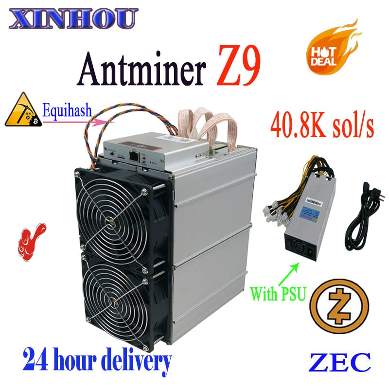 ASIC miner AntMiner Z9 40.8k sol/s Equihash with PSU ZEC ZEN BTG Mining machine benefit is better than  Z9mini S9 Whatsminer M3 - Mining Bonanza