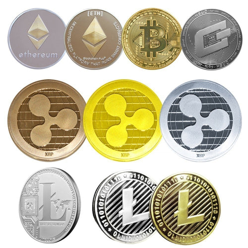 Coins Collectibles Bitcoin Ethereum/Litecoin/Dash/Ripple Coin 5 kinds of Commemorative Coin Drop Shipping - Mining Bonanza