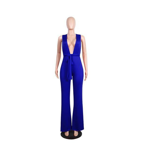 V Neck Multi-way Jumpsuits