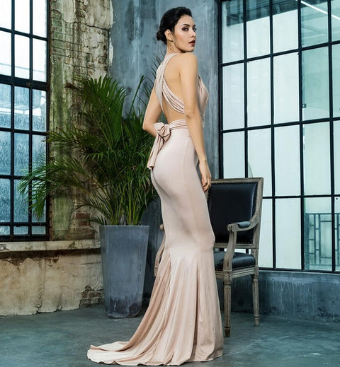 Amazing Family Store  Fit Fishtail Look Long Dress