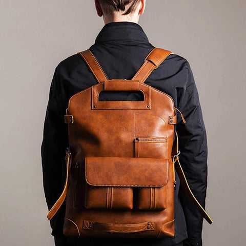 Backpacks Genuine Leather for Men - amazingfamilystore