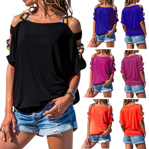 Pretty Sleeve Off Shoulder T- shirt - amazingfamilystore