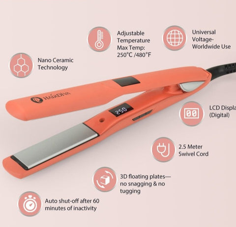 professional ceramic flat iron