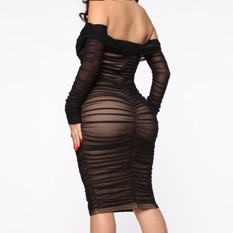 Amazing Double Layer Mesh Sexy Party Dress
