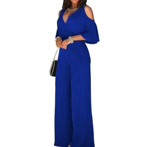 Women Sexy Off Shoulder Jumpsuit