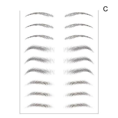 10Pairs 4D Imitation Ecological Tattoo Eyebrow Stickers - amazingfamilystore