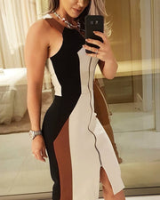 Sleeveless Zipper Dress