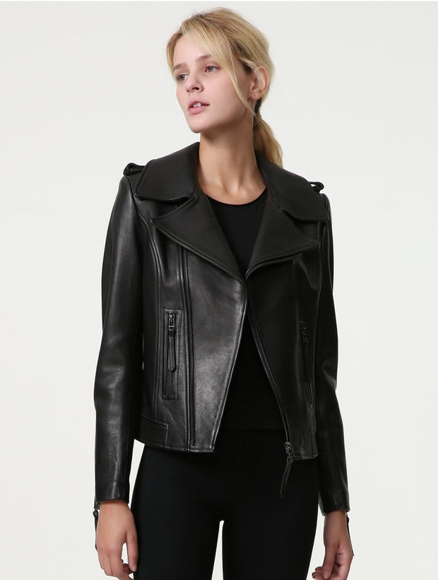 Leather casual short jackets