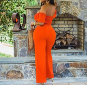 Off Shoulder Cut Out Jumpsuit