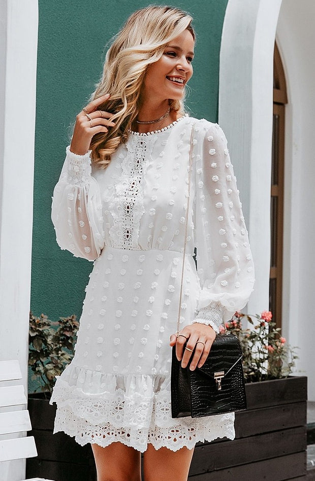 Amazing Family Store white chiffon Dress