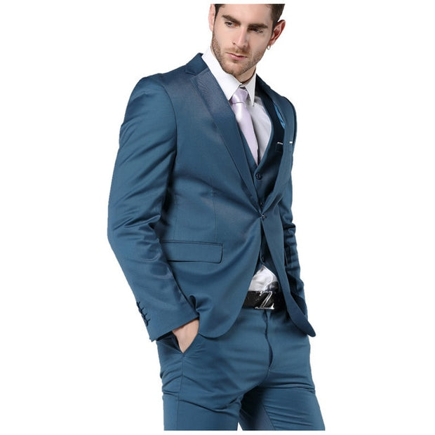 Three-piece men's wedding suits - amazingfamilystore