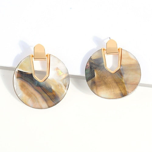 Round Acrylic Earrings