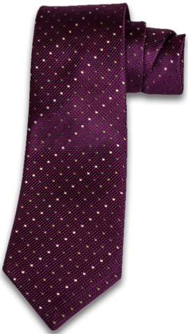 Adrano - Dark Plum Wine Silk with Bronze and Olive Neat