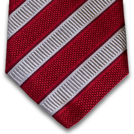 Belpasso - Red and Silver Mogador Silk Stripe