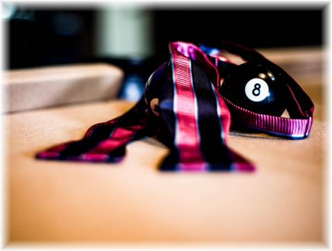 Belpasso - Navy Blue and Pink Striped Mogador Silk Self Tie Bow Tie
