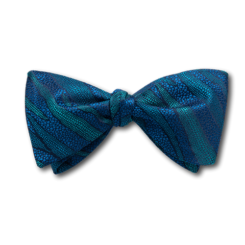 Carlo Franco Layers Of Nature - Blue & Teal Grean Bow