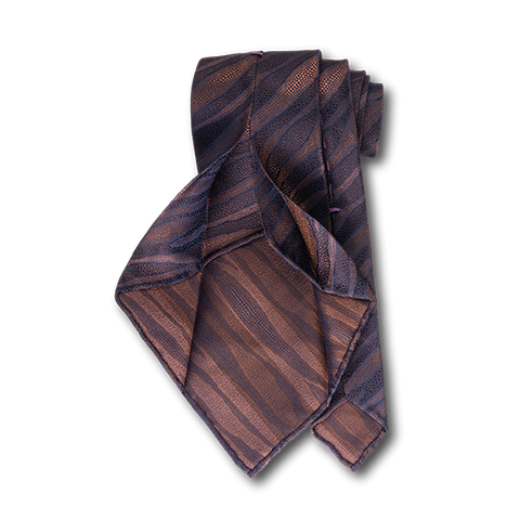 Carlo Franco Layers Of Nature - Browns Unlined Seven Fold Tie