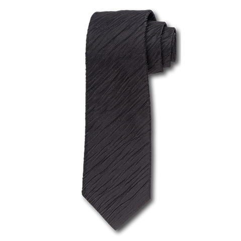 Carlo Franco Tone On Tone Ripple Stripe In Black Seven Fold Tie