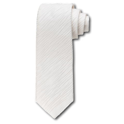 Carlo Franco Tone On Tone Ripple Stripe In Cream Seven Fold Tie