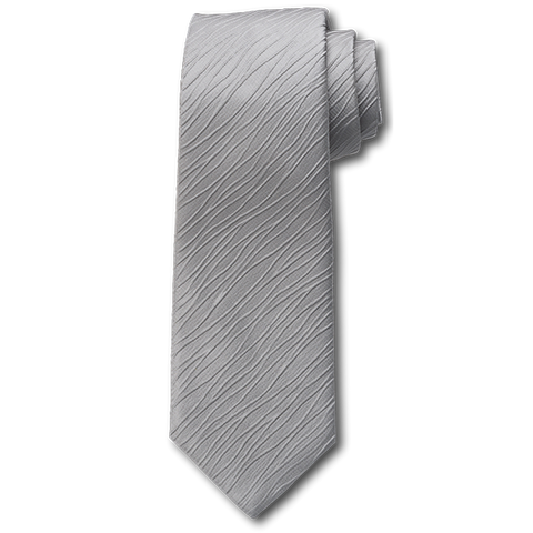 Carlo Franco Tone On Tone Ripple Stripe In Silver Seven Fold Tie