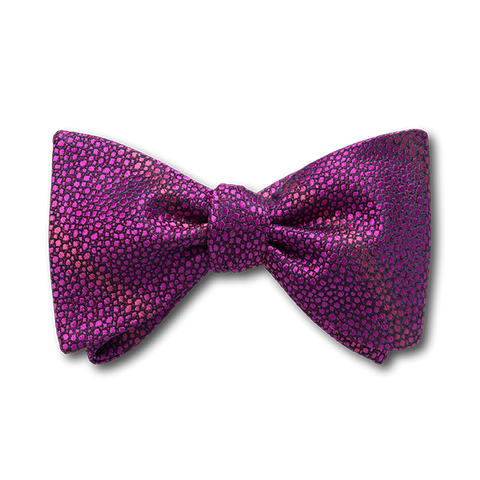 Carlo Franco Sharkskin Woven Texture Of Hot Pink Bow