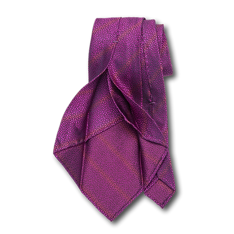 Carlo Franco Sharkskin Woven Texture Of Hot Pink Unlined Seven Fold Tie