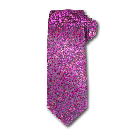 Carlo Franco Sharkskin Woven Texture Of Hot Pink Seven Fold Tie