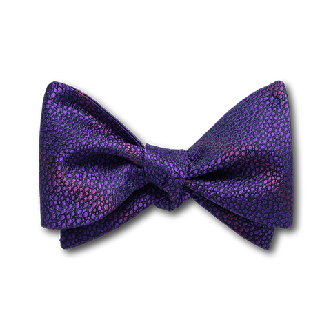 Carlo Franco Sharkskin Woven Texture Of Purple Bow