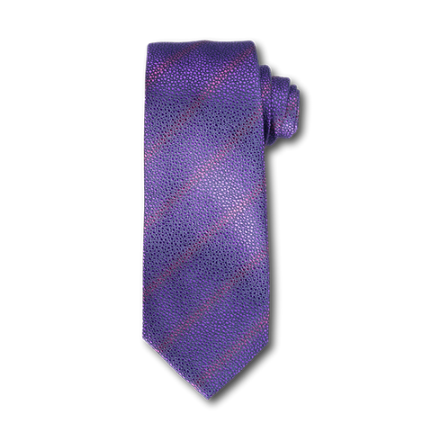 Carlo Franco Sharkskin Woven Texture Of Purple Seven Fold Tie