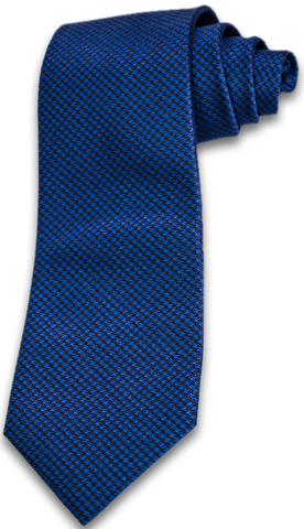 Cosimo - Black and Blue houndstooth woven silk