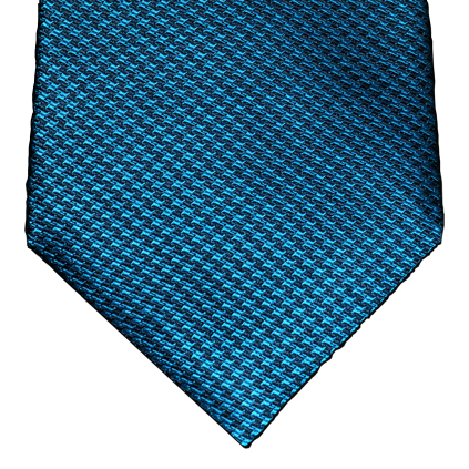 Cosimo - Navy Blue and Teal houndstooth silk