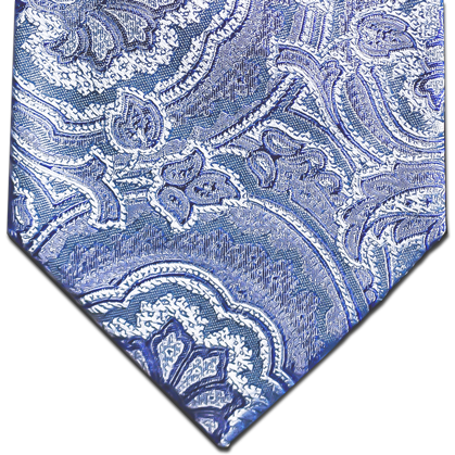 Modica - Baby Blue and Medium Paisley Silk