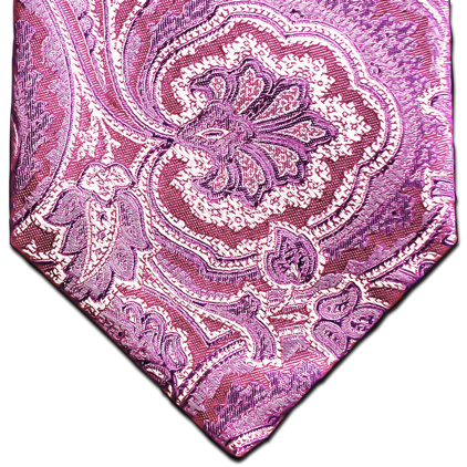 Modica - Pink and Lavender Woven Paisley Silk