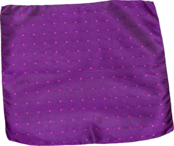 Carlo Franco Silk Pocket Square Woven of Rich Fuchsia with a Bright Pink Dot