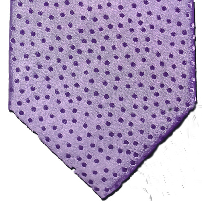 Ragusa - Solid Lavender on Lavender dotted Satin Silk